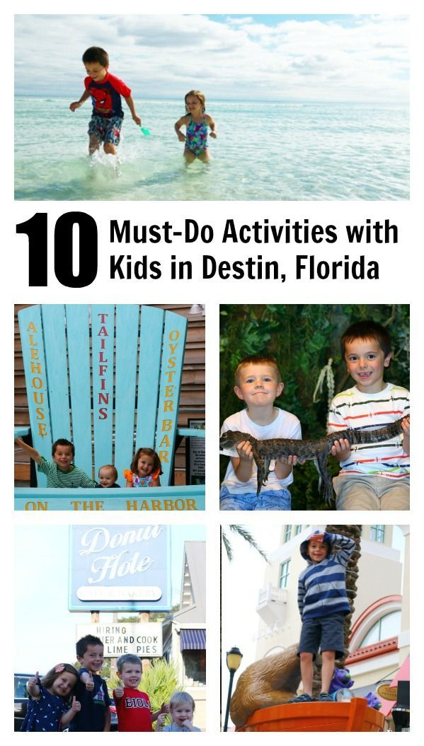 10 Things To Do With Kids In Destin The Mom Creative 10 Must
