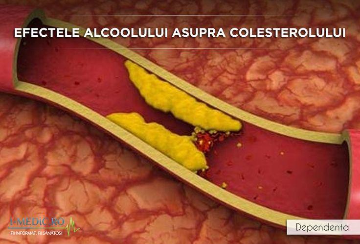 La fel ca orice alta substanta care provoaca dependenta, alcoolul consumat excesiv si pentru perioade indelungate de timp poate provoca probleme grave de sanatate, ducand uneori la efecte ireversibile precum anumite forme de cancer sau chiar infarct.  http://www.i-medic.ro/tutun-alcool-droguri/efectele-alcoolului-asupra-colesterolului