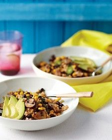 couscous salad with black beans, mushrooms and corn, martha stewart. A simple