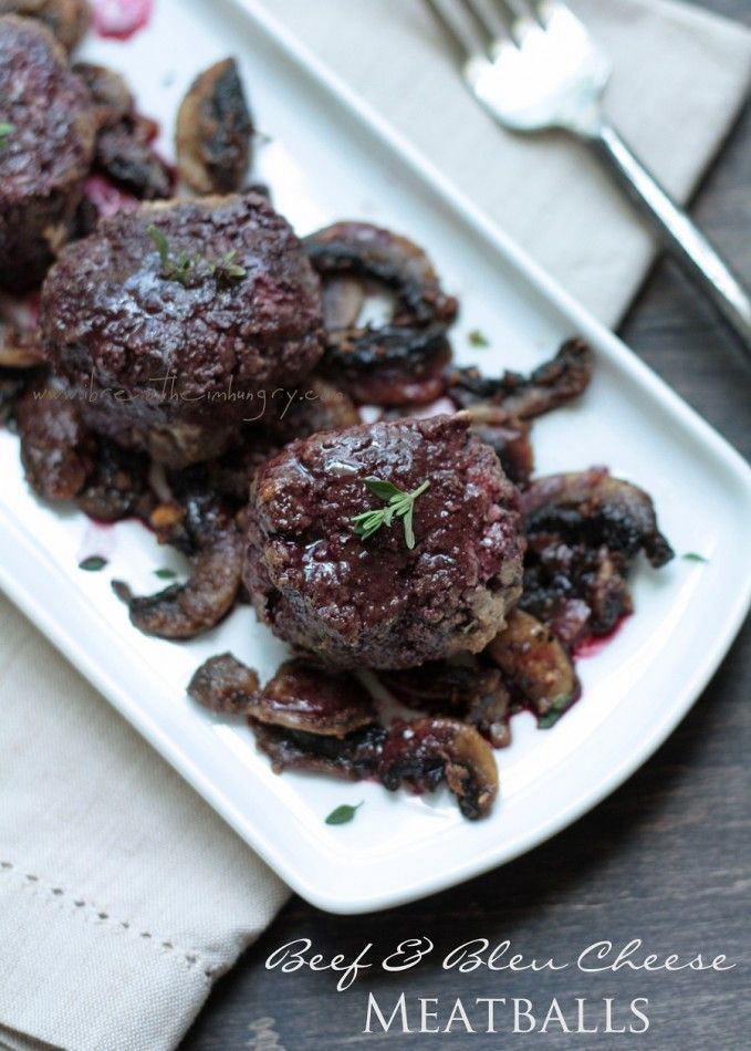 low carb beef blue cheese meatballs w red wine sauce atkins recipes ...