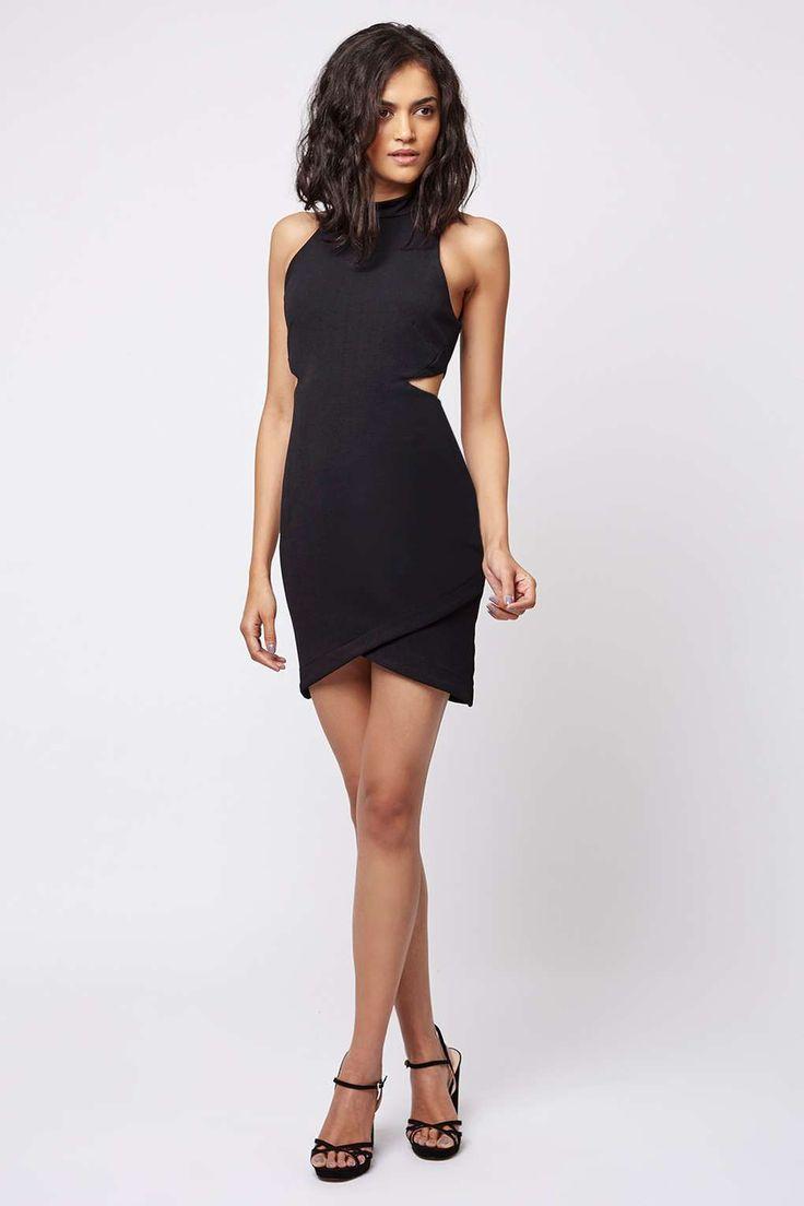 PETITE Cut-Out Wrap Bodycon Dress - Dresses - Clothing - Topshop USA