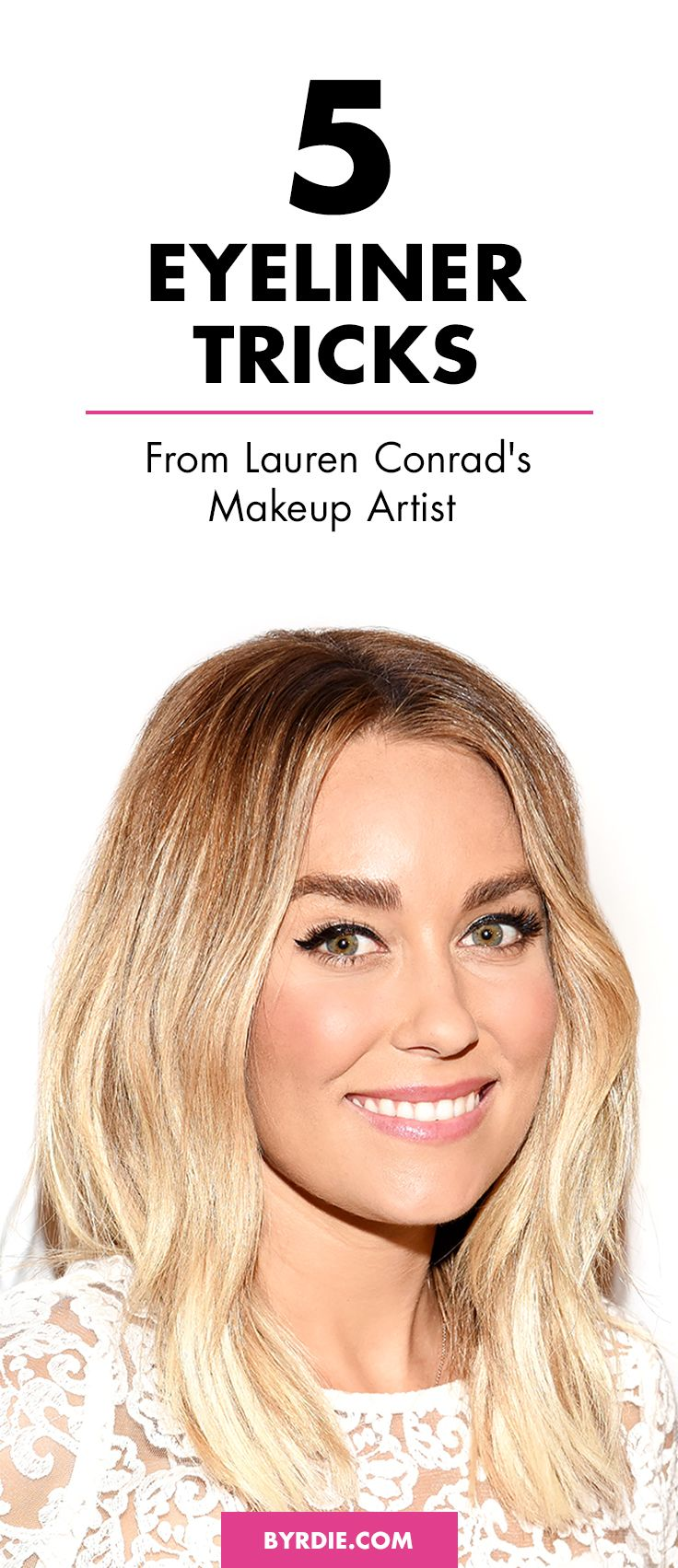 The eyeliner tricks Lauren Conrad's makeup artist swears by