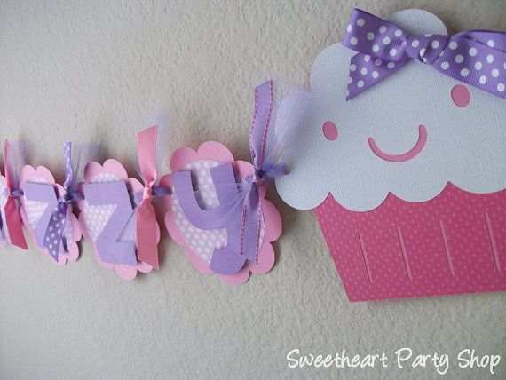 Cupcake Birthday Party  Banner