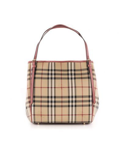 BURBERRY Burberry Shop Online Burberry Canvas Check Fabric Shoulder Bag. #burberry #bags #canvas #leather #lining #shoulder bags #lamp #hand bags #