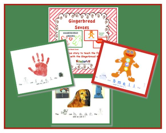 Each child makes this rebus book during the holiday season to learn the five senses through the sequential retelling of the classic folk tale The Gingerbread Man. This book is a non-biased way of bringing the sights and sounds of the season into your classroom without placing emphasis on any holiday. ($)