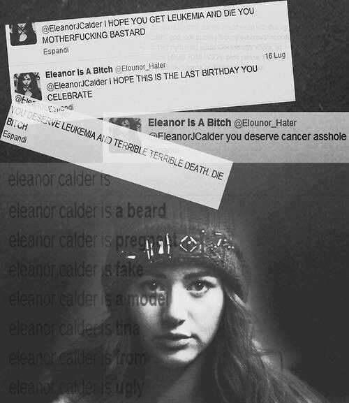 This honestly breaks my heart into a million pieces. Eleanor makes Louis happy, why would you want her to die? I really hope she doesn't see these mentions. Guys lets not talk about larry for now. This is just terrible . How can anyone say something like this it's just so wrong .<<< All right I agree that this is horrible but no where does this girl say anything about larry. It is probably just some girl that wants Louis for herself. Stop blaming Larry shippers for everything!
