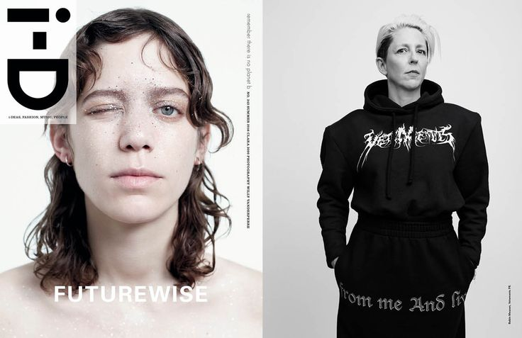 VETEMENTS FEATURED IN i-D SUMMER 2016: FUTUREWISE ISSUE.  ROBIN MEASON SHOT BY WILLY VANDERPERRE STYLED BY ALASTAIR MCKIMM