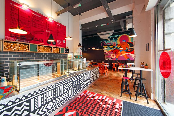 Changos, Manchester, Mexican Restaurant, Interior Design, Illustration
