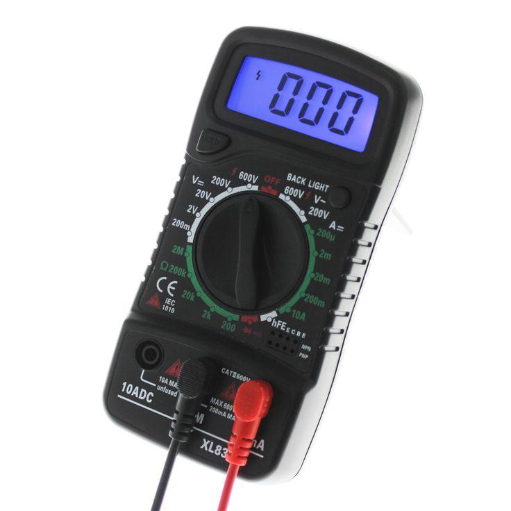 LCD Digital Multimeter Voltmeter Ammeter Ohmmeter OHM VOLT Tester Backlight Test Current Multimeter Electronic Instrument