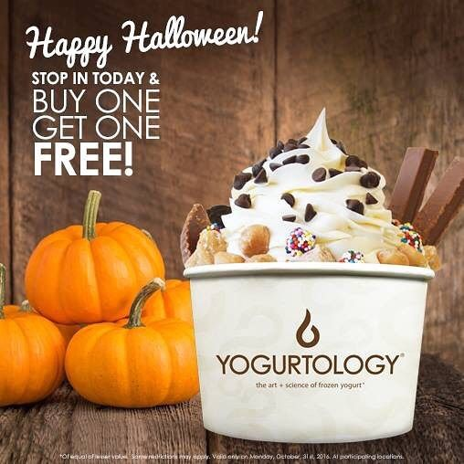 happy halloween come by and celebrate with us and buy one get one free - Frozen Halloween Decorations