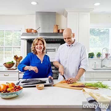 If your kitchen is set up properly, there's no such thing as too many cooks in it. Just ask chefs Marge Perry and David Bonom, who work from home developing recipes for magazines (including this one). Take a tour of their recent renovation and put their tips for saving time and space to use for yourself!