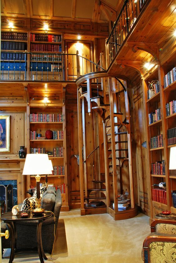 Private Library Study Rooms: Home Libraries, Home, Mansion Interior