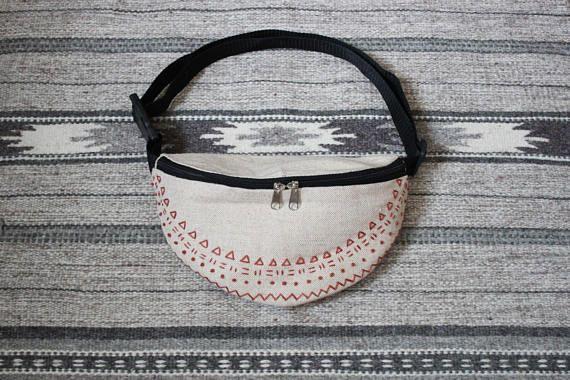 Boho fanny pack Bum bag Waist bag Waist purse Belt bag
