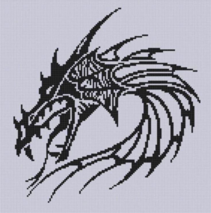 Dragon Head 3 Cross Stitch Pattern  pattern on Craftsy.com