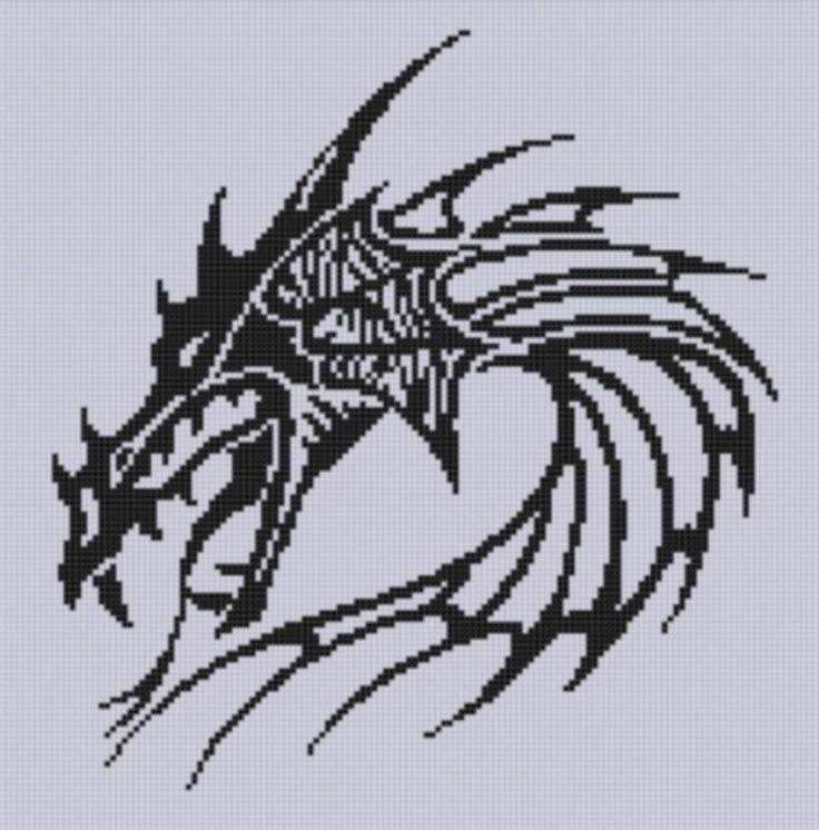 Dragon Head 3 Cross ... by Motherbeedesigns | Embroidery Pattern - Looking for your next project? You're going to love Dragon Head 3 Cross Stitch Pattern  by designer Motherbeedesigns. - via @Craftsy