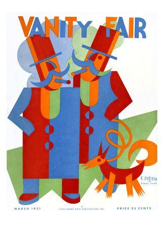 Fortunato DEPERO: Vanity Fair Cover design.