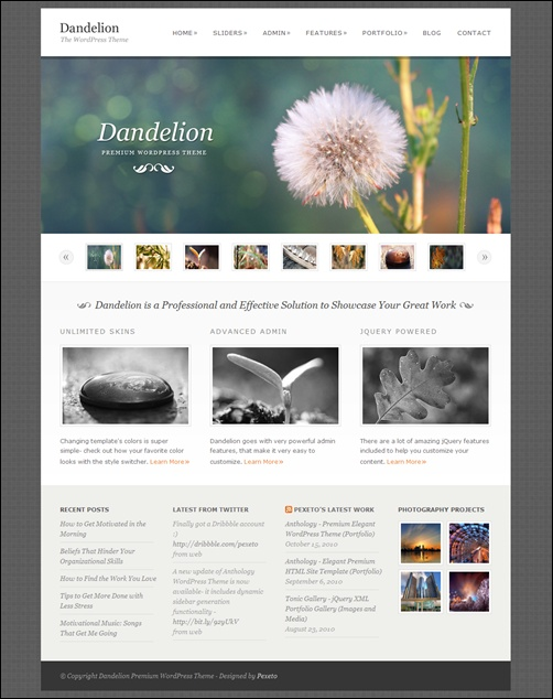 Dandelion – Powerful Elegant WordPress Theme