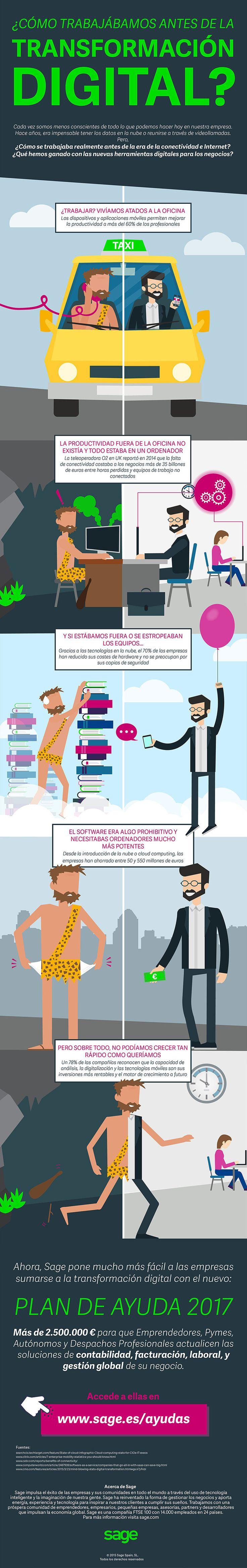 Cómo se trabajaba antes de la Transformación Digital #infografia