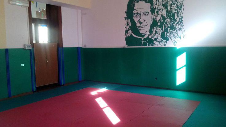 La sala judo della Scuola.