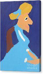 Canvas Print featuring the painting Portrait Of Adeline Ravoux 2014 - After Vincent Van Gogh by Patrick Francis