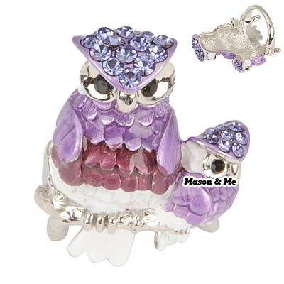 Korean Personality Exquisite Fashion Double OWL Charm Design Rings (Purple) General. Fashionable with passion REPIN if you like it.😊 Only 135.5 IDR