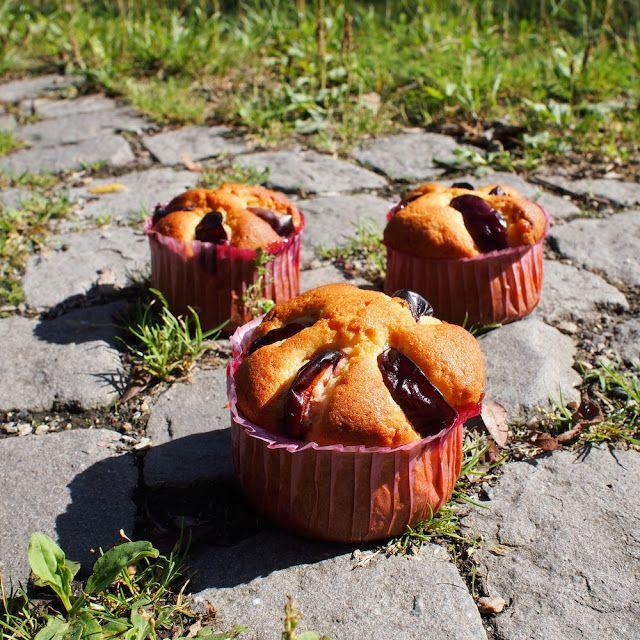 Laskominy od Maryny: Marcipánové muffiny se švestkami