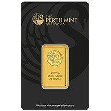 20g Perth Mint Gold Minted Bar