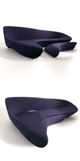 Zaha Hadid Moon System.....sofa seat in shape of moon and have blends of ergonomics and beauty to 'liquefy' conventional sofa typography – MOON redefines the notion of modular seating, making each element a module in its own right, to achieve great flexibility.
