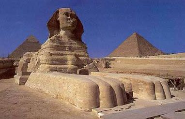 Another view of the Great Sphinx at Giza in Egypt