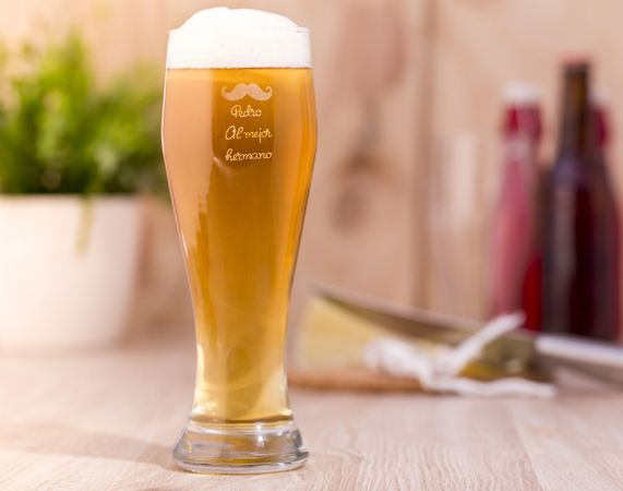 Jarra de cerveza weizen personalizada