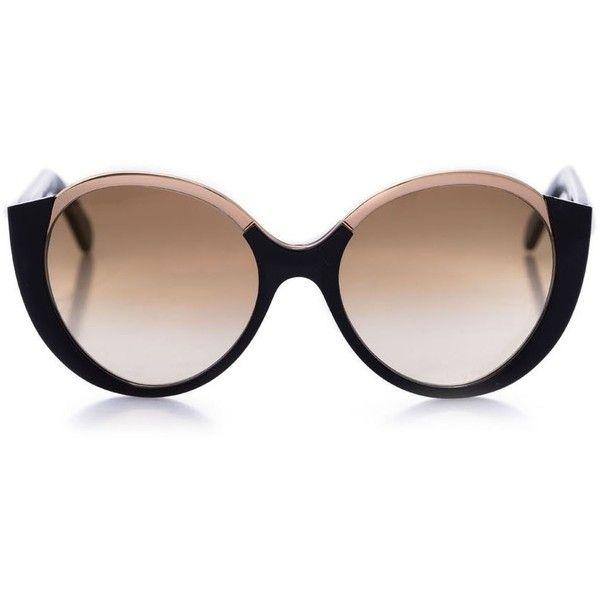 Cutler and Gross (1.975 BRL) ❤ liked on Polyvore featuring accessories, eyewear, sunglasses, glasses, lens glasses, rose sunglasses, cutler and gross, rose glasses and cutler and gross glasses