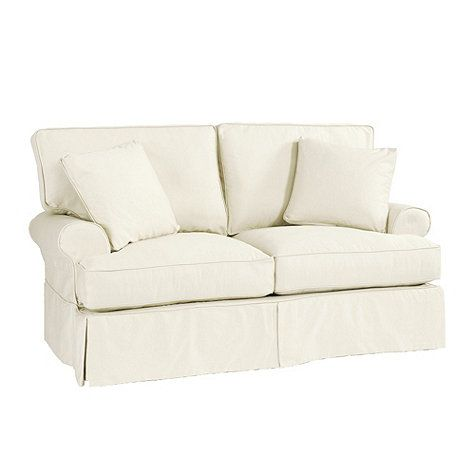 Davenport loveseat slipcover special order fabrics i finally ordered a loveseat for my tiny White loveseat slipcovers