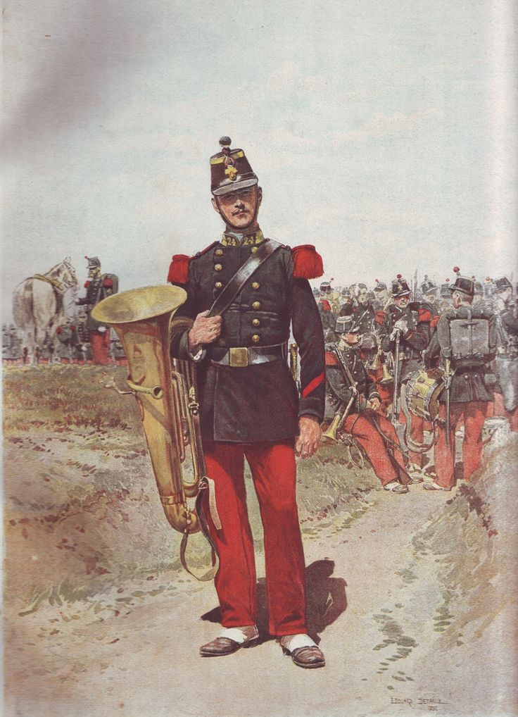 French Army 1900 Infantry Bandsman by Édouard Detaille
