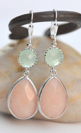 loving these colors together! Bridesmaid jewelry