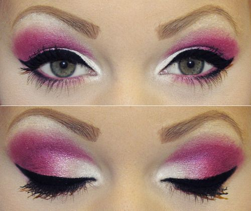 Pink and White Eyeshadow