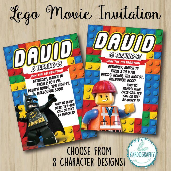 Birthday Lego Movie Invitation Batman Birthday Party