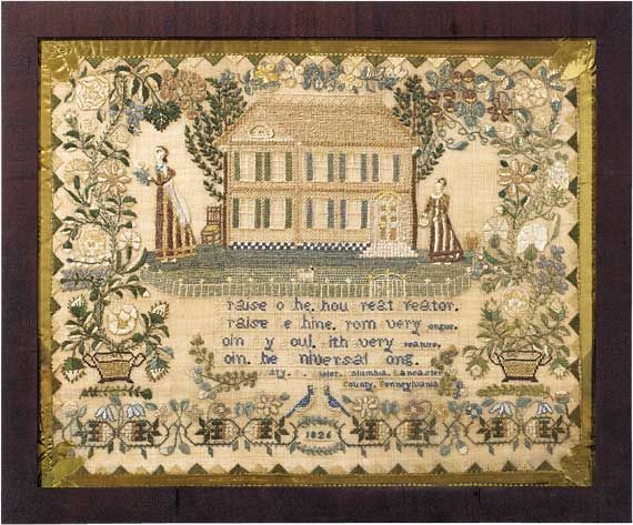Outstanding and Important Pennsylvania Sampler by Mary Wisler of Columbia, Lancaster County