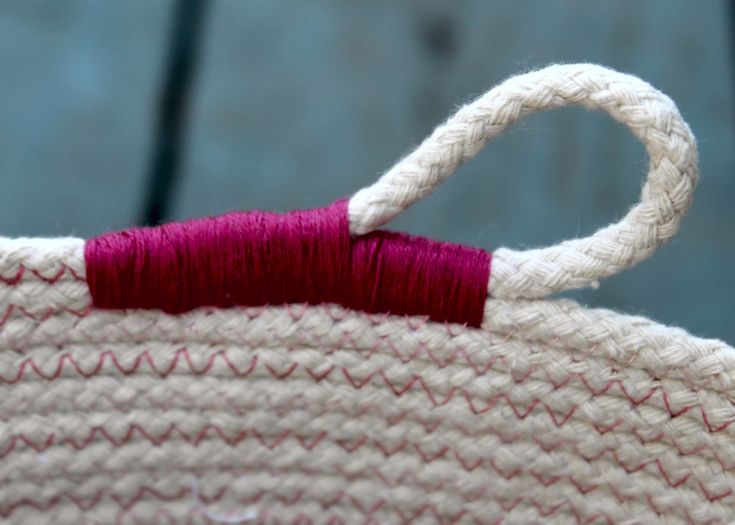 Rope Baskets -- variation on finishing the end