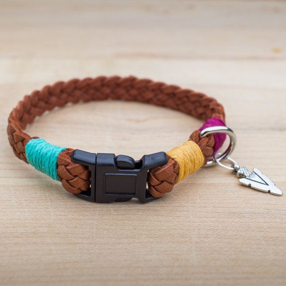 Go West Braided Leather Cat Collar by WhiskeredAway on Etsy
