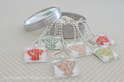 Made these CTR tile necklaces for our Activity Day girls--free CTR Printable