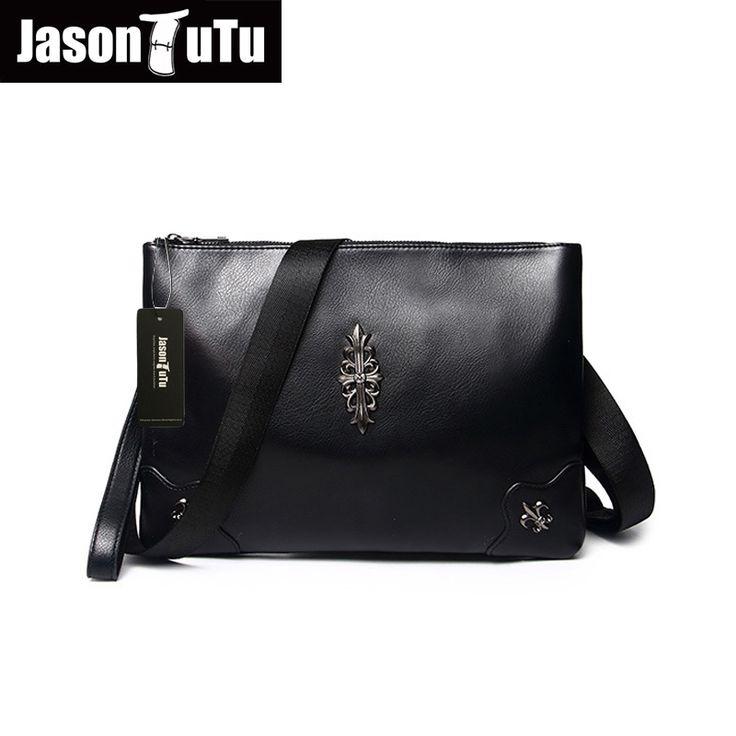 2017 promotions shoulder bags for men rivet bag Top PU Leather handbag Black small men bag Messenger bag  B110 #Affiliate