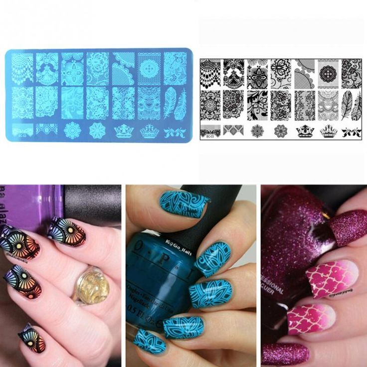 Cheap stamp template, Buy Quality stamping stamp directly from China nail art stamping stamp Suppliers: New Nail Art Stamping Stamp Template Image Plates Cool stainless steel Lace floral Nail Stamp Plate Manicure Decoration Pedicure