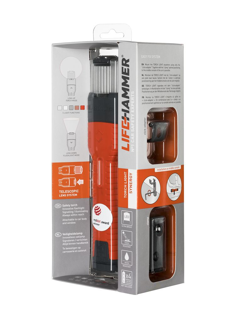 Lifehammer Safety Torch Synergy - In high-end packaging.