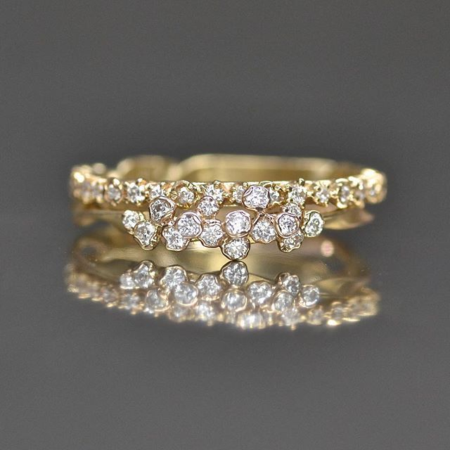 Another stacking possibility for the thin cluster diamond ring is to combine it…                                                                                                                                                                                 More
