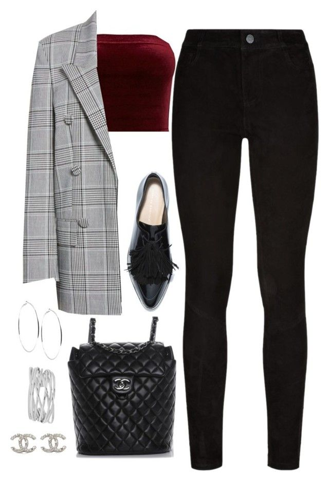 """Untitled #4456"" by magsmccray ❤ liked on Polyvore featuring Alexander Wang, Paige Denim, Chanel, GUESS and M&Co"