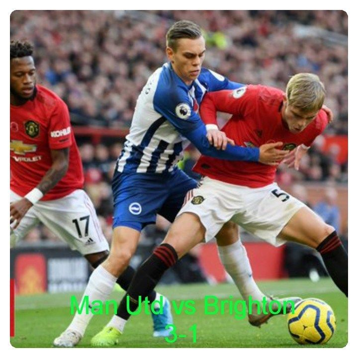 Manchester United Vs Brighton 3 1 Highlights Download Video In 2020 Manchester United Manchester United Players William Manchester