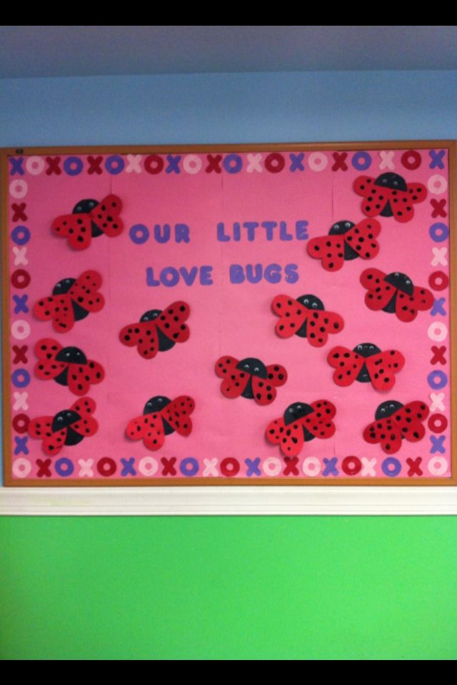 February bulletin board! Great for 2-4yr olds