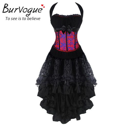 Burvogue Women Steampunk Corsets Dress Vintage Bustier Top Gothic Overbust Corset Dress Waist Corset Sexy Lace Waist Trainer Like and share if you think it`s fantastic! Visit our store