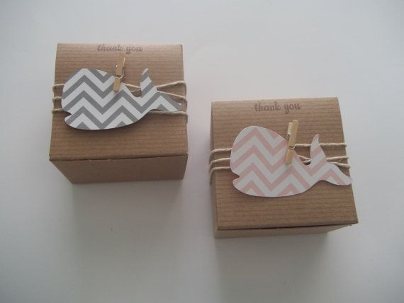 25 Whale Baby Shower  favor box chevron animal by CrazyPaperLove, $40.99