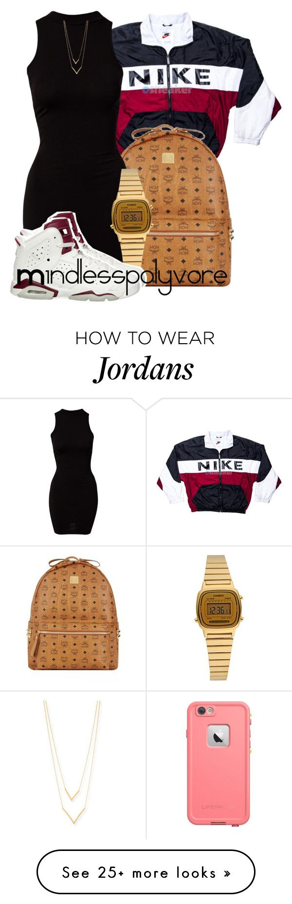 """"""""""" Tomorrow is the first blank page of a 365 page book. Write a good one."""" - Brad Paisley"""" by mindlesspolyvore on Polyvore featuring NIKE, MCM, River Island, Casio and Jennifer Zeuner"""
